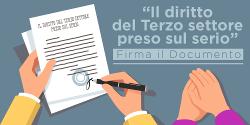 Il diritto del Terzo settore preso sul serio – Firma il Documento
