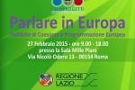 """Csen - """"Parlare in Europa"""" Politiche di Coesione e Programmazione Europea"""