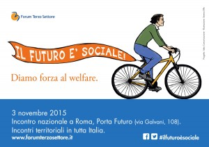 """Card """"Il futuro è sociale"""" (fronte)"""