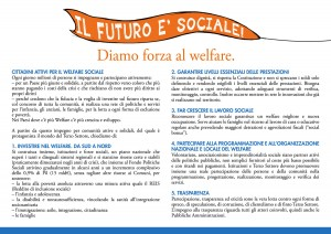 """Card """"Il futuro è sociale"""" (retro)"""