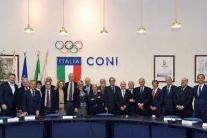 Roma 11 maggio 2017 La nuova Giunta Nazionale del CONI. © foto di Simone Ferraro