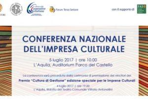 """La Cultura fa Impresa"": a L'Aquila la I Conferenza nazionale sull'Impresa Culturale"