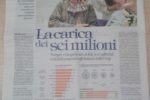 """""""La Repubblica"""" del 08/08/2017: La carica dei sei milioni"""