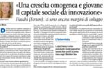 """Avvenire del 21/12/2017: """"Il capitale sociale dà innovazione"""". Intervista a Claudia Fiaschi"""