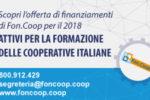 """Fon-coop, pubblicato l'Avviso """"Sviluppo e innovazione del Terzo Settore"""""""