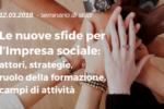 Nuove sfide per l'impresa sociale: il 12 marzo seminario a Pisa