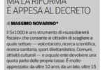 5 per mille - L'analisi di Massimo Novarino (Forum Terzo Settore) su Buone Notizie - 01/05/2018