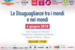 """""""Le disuguaglianze tra i mondi e nei mondi"""", il 4 giugno a Roma"""