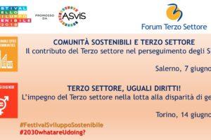 Festival dello Sviluppo Sostenibile, gli eventi del Forum Terzo Settore