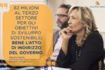 """Terzo Settore, Fiaschi: """"62milioni al terzo settoreper gli obiettivi di sviluppo sostenibile: bene l'atto di indirizzo del Governo"""""""