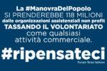 """Manovra, Fiaschi replica a Castelli """"La viceministra forse non sa che le organizzazioni non profit non possono distribuire utili"""""""