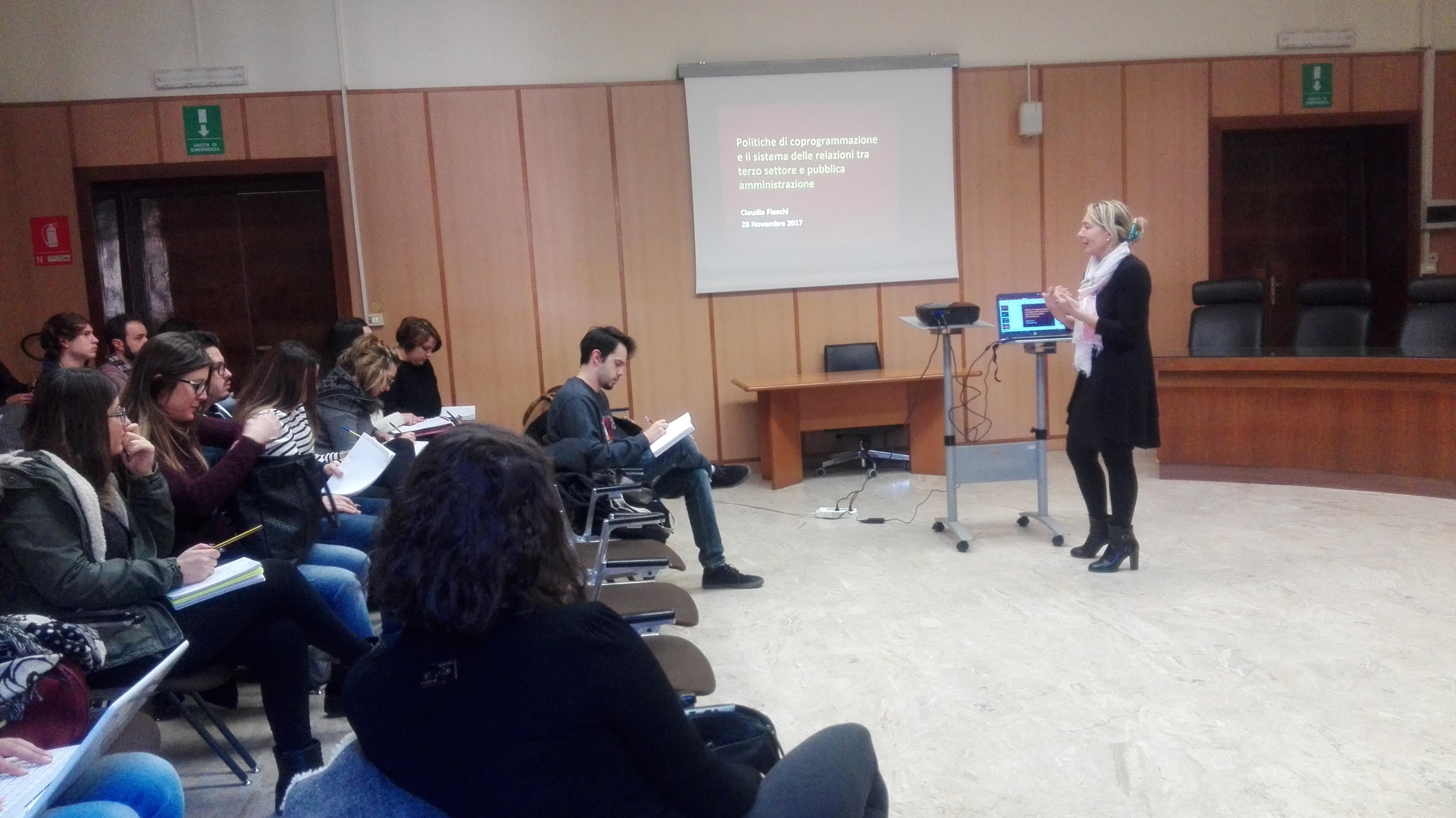 """Claudia Fiaschi a """"La Sapienza"""" - Novembre 2017"""